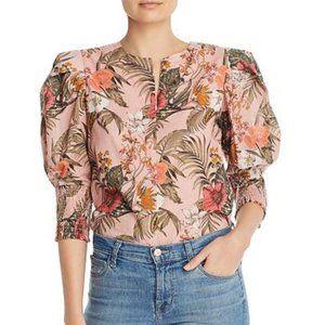 Rebecca Minkoff Puff Sleeve Blouse pink XS new